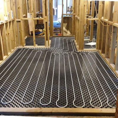 wet underfloor heating installation project